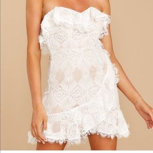 NWT White Lace Dress from Red Dress Boutique